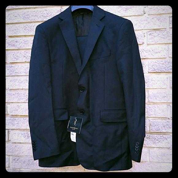 b65c412b67 Ysl Yves Saint Laurent black suit men s size 38